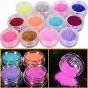 12 Color Nail Art Dust Glitter Powder DIY Decoration Uv Acrylic Gel Tips