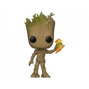 Marvel Figura Vinil FUNKO POP! Avengers Infinity War: Groot w/ Stormbreaker