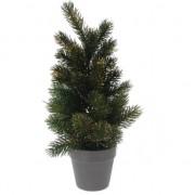Bellatio Decorations Mini kerstboom met gouden glitters 40 cm