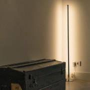 QAZQA Vloerlamp Line-up LED chroom