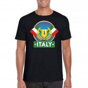 Bellatio Decorations Zwart Italie supporter kampioen shirt heren