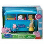 Figurinele Peppa Pig cu autocar excursie sunete