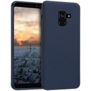Protectie spate Senno Pure Flex Slim Mate TPU pentru Samsung Galaxy A8 2018 (Albastru inchis)