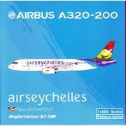 PHX1522 1:400 Phoenix Model Air Seychelles Airbus A320-200 REG #S7-AMI (pre-painted/pre-built)