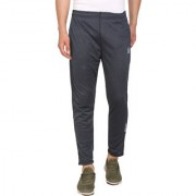 Pause Sport Grey Solid Dry-Fit Slim Fit Ankle Length Track-Pant
