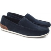 Clarks MEDLY SUN NAVY SUEDE loafers For Men(Blue)