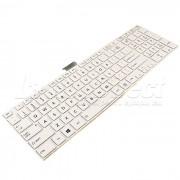 Tastatura Laptop Toshiba Satellite C55-A-10D alba cu rama + CADOU