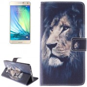 Lion Pattern Leather Case with Holder & Card Slot & Wallet for Samsung Galaxy A7 / A700F