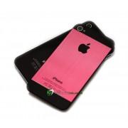 iPhone 4S Bakstycke Borstad Svart BT (Rosa)