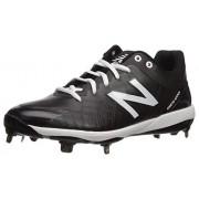 New Balance Men's 4040v5 Metal Low-Cut Baseball Cleat, Black/White, 8 M US