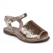 Sandale fetite tip Avarca BIBI Glitter Auriu