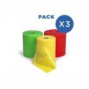 Pack 3 Bandas Elásticas 15 Cm X 10 Mt