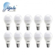 Ujala Led 9W MAX-GLOW Bulb - 100 Lumen/Watt B22 Base (Aluminium) PC Diffuser 2Year Warranty(Pack of 10)