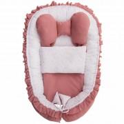 Cuib de bebeluș Belisima Angel Baby,, cu plăpumioară, roz