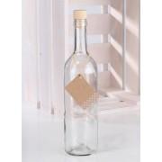 6x Glazen flessen met kurk 750 ml - Glasflessen / flessen met kurk