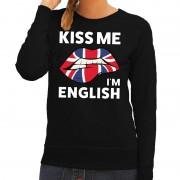 Shoppartners Kiss me I am English sweater zwart dames