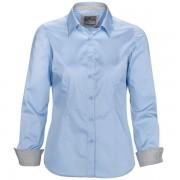 Damblus WILLIAMS ljusblå tailored fit