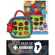 Ks Kids Take Along Shape Sorter Baby Toy + 1 Free Pair Of Baby Socks Bundle [91855]