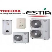 Toshiba HWS-1405H-E- 1405XWHT6-E Estia 1 fázisú levegő-víz hőszivattyú 14 kW