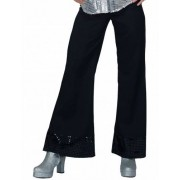 Vegaoo Zwarte disco broek met lovertjes voor vrouwen M