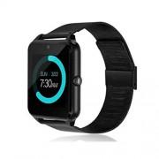 Aoile Bluetooth Smart Watch gsm SIM Phone Mate Z60 de Acero Inoxidable para iOS Android Black