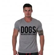 Tricou gri barbati - Dogs