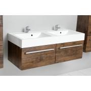 Antado Spektra szafka z umywalką, wisząca 120 stare drewno 675353/634107