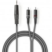 Nedis COTH22200GY30 Jack - RCA sztereó audiokábel 3m