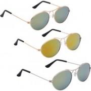 Phenomenal Oval Sunglasses(Green, Yellow)