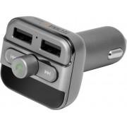 Technaxx FMT900BT FM-transmitter Incl. handsfree-functie, Ingebouwde MP3-speler, Met laadfunctie voor iPhone