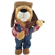 "Cuddle Barn Animated Stuffed Animal ""Hank Country Hound""- Plays and Dance to the Song-""Thank God I'm A Country Boy"""