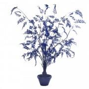 Planta artificiala cu ghiveci din lut si plastic 300 cm Fern Dark Blue Pols Potten