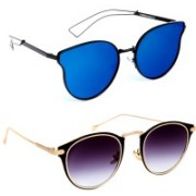 TheWhoop Cat-eye, Round Sunglasses(Blue)