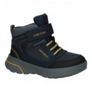 Geox Donker Blauwe Hoge Schoenen met Klittenband