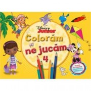 Disney Junior. Coloram si ne jucam Vol. 4 . Planse de colorat cu activitati distractive
