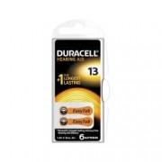 Baterii pentru aparate auditive Duracell ZA 13 Zinc Aer 6 baterii set