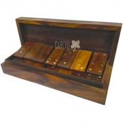 Danii Wooden Family Board Game - Dominoes Game