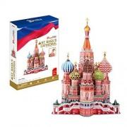 Umbrella St. Basil's Cathedral 3D Puzzle, Multi Color