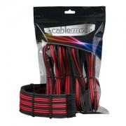 Set cabluri prelungitoare CableMod PRO ModMesh, cleme incluse, Black/Red