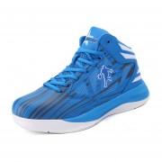 Zapatos Deportivos De Encaje De Antideslizante Para Basketbol Hombre - Azul