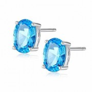 Original Certified Topaz Earring Natural Topaz Stud Earring Jaipur Gemstone