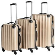 tectake Hårda resväskor, set - beige
