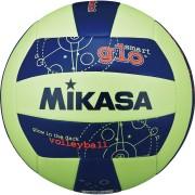 Топка за плажен волейбол Mikasa Glow VSG - фосфорицираща