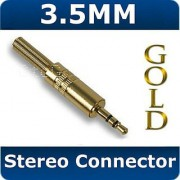 3.5mm Stereo Jack Plug Connector Unscrew Solder Type For Audio Cable