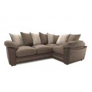 Harveys Left Hand Facing Corner Sofa Jumbo Cord/Snake Harveys