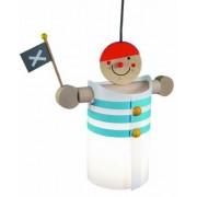 Niermann Standby 197 Pirate Lampe Suspendue Pour Enfants Plastique Bois 60 Watts