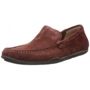 Clarks Men's Rengo Rumba Red Leather Loafers and Mocassins - 6.5 UK