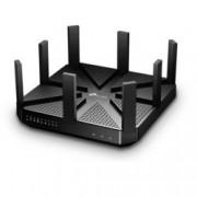 Рутер TP-Link Archer C5400, 5400Mbps, 2.4GHz(1000 Mbps)/5GHz-1(2167 Mbps)/5GHz-2(2167 Mbps), Wireless AC, 4x LAN 1000, 1x WAN 1000, 1x USB 3.0, 1x USB 2.0, 8x външни антени, двуядрен процесоре 1.4GHz