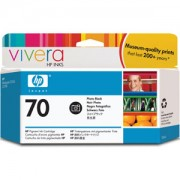 HP 70 130 ml Photo Black Ink Cartridge with Vivera Ink, HP Designjet Z2100, Z3100 - C9449A
