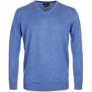 Profuomo Pullover V-Hals Blau - Blau M
